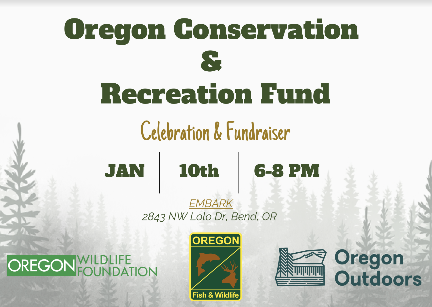 Oregon Conservation and Recreation Fund – Celebration & Fundraiser
