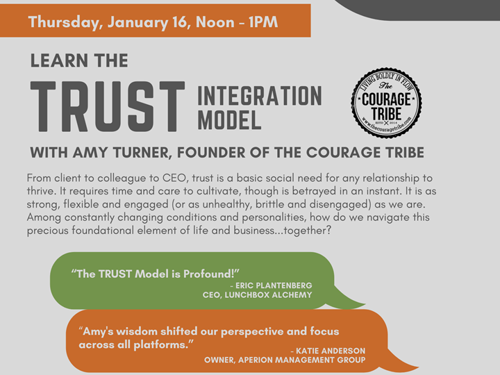 FREE Lunch & Learn: Trust Model with Amy Turner of the Courage Tribe